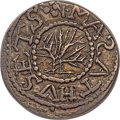1652 3PENCE Oak Tree Threepence, No IN on Obverse, AU50 PCGS. Noe-24, W-270, Salmon 2-A, R.6