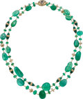 Estate Jewelry:Necklaces, Emerald, Diamond, Ruby, Sapphire, Enamel, Gold Necklace . ...