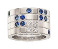 Estate Jewelry:Rings, Diamond, Sapphire, White Gold Ring, Cartier Th...