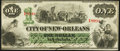 Obsoletes By State:Louisiana, New Orleans, LA- City of New Orleans $1 Oct. 24, 1862 Very Fine.. ...