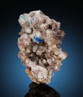 Minerals:Small Cabinet, Hydrocerussite & Linarite. Mammoth-St Anthony Mine, St. Anthony Deposit,, Tiger, Mammoth District, Pinal Co., Ariz... (Total: 2 Items)