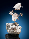 Minerals:Cabinet Specimens, Native Silver and Calcite. Kongsberg Ag Mining District, Kongsberg, Buskerud, Norway. ... (Total: 2 Items)