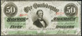 Confederate Notes:1863 Issues, T57 $50 1863 PF-15 Extremely Fine.. ...