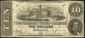 Confederate Notes:1863 Issues, T59 $10 1863 PF-13 Cr. 439 Fine.. ...