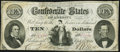 Confederate Notes:1861 Issues, T25 $10 1861 PF-1 Cr. 168 Fine-Very Fine.. ...
