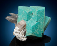Microcline var. Amazonite & Quartz 20 km South of Konso, Southern Nations Nationalities and Peoples'