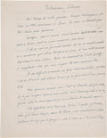 Autographs:Artists, Gino Severini. Autograph Manuscript Signed. . ...