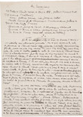 Autographs:Artists, Eugene Dabit. Autograph Manuscript. . ...