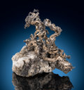Minerals:Small Cabinet, Native Silver & Calcite. Kongsberg Ag Mining District, Kongsberg, Buskerud, Norway. ... (Total: 2 Items)