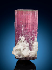 Elbaite Doubly Terminated with Albite var Cleavelandite Himalaya Mine, Gem Hill, Mesa Grande Distric