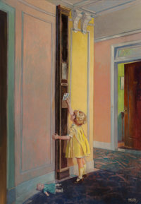 Andrew Loomis (American, 1892-1959) Letter to Santa Oil on canvas 40 x 28 in. Signed lower right  The IRI Collec