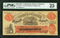 Confederate Notes:1861 Issues, CT-XXI/C2 $20 1861 Female Riding Deer Bogus Note Blank Back PMGVery Fine 25.. ...