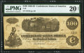 Issued at Little Rock, AR T40 $100 1862 PF-1 Cr. 298 PMG Very Fine 20 Net