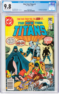 New Teen Titans #2 (DC, 1980) CGC NM/MT 9.8 Off-white to white pages