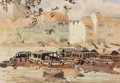 Paintings:Chinese, Kin Seng Ong (Singapore, b. 1945). River Boats and Barges, 1979. Watercolor on paper. 14-1/4 x 21 inches (36.2 x 53.3 cm...