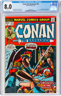 Bronze Age (1970-1979):Superhero, Conan the Barbarian #23 (Marvel, 1973) CGC VF 8.0 Off-white pages....