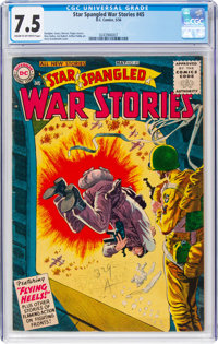 Star Spangled War Stories #45 (DC, 1956) CGC VF- 7.5 Cream to off-white pages