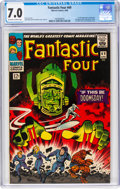 Silver Age (1956-1969):Superhero, Fantastic Four #49 (Marvel, 1966) CGC FN/VF 7.0 Off-white to white pages....