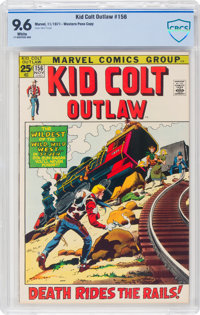 Kid Colt Outlaw #156 (Atlas/Marvel, 1971) CBCS NM+ 9.6 White pages