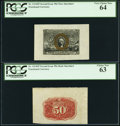 Fractional Currency:Second Issue, Fr. 1314SP 50¢ Second Issue Wide Margin Specimen Pair.. ... (Total: 2 notes)