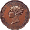 Canada, New Brunswick. Victoria bronzed Proof Bust / Ship Penny To...