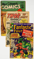 Golden Age (1938-1955):Miscellaneous, Golden to Modern Age Miscellaneous Low Grade Reading Copies Group of 61 (Various Publishers, 1940s-80s) Condition: Average FR.... (Total: 61 Comic Books)