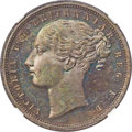 South Africa: Griquatown. British Colony - Victoria copper Proof Pattern Penny ND (1890) PR62 Brown NGC