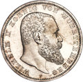 German States:Württemberg, German States: Württemberg. Wilhelm II Proof 5 Mark 1901-F PR64 NGC,...