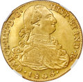Colombia, Colombia: Charles IV gold 8 Escudos 1806 P-JF AU Details (Cleaned) NGC,...