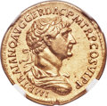 Ancients:Roman Imperial, Ancients: Trajan (AD 98-117). AV aureus (20mm, 7.21 gm, 7h). NGC AU 5/5 - 3/5....