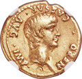 Ancients:Roman Imperial, Ancients: Nero (AD 54-68). AV aureus (19mm, 7.58 gm, 6h). NGC VF 5/5 - 3/5, bankers mark....