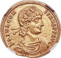 Ancients:Roman Imperial, Ancients: Constans, as Augustus (AD 337-350). AV solidus (22mm, 4.45 gm, 5h). NGC Choice AU 5/5 - 4/5....