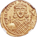 Ancients:Byzantine, Ancients: Philippicus (Bardanes) (AD 711-713) AV solidus (19mm, 4.32 gm, 6h), NGC MS 4/5 - 4/5, clipped....
