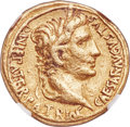 Ancients: Augustus (27 BC-AD 14). AV aureus (18mm, 7.87 gm, 4h). NGC VF 5/5 - 2/5, ex-jewelry, slight bend