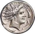 Ancients:Greek, Ancients: SICULO-PUNIC. Sicily. Ca. 330-305 BC. AR tetradrachm (25mm, 17.1 gm, 12h). ANACS EF 40....