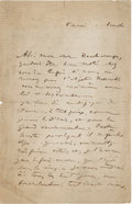 Books:Manuscripts, Edgar Degas. Autograph Letter Signed. . ...