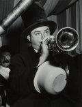 Photographs:Gelatin Silver, Weegee (American, 1899-1968). Horn Player, Youth at Paramount Theater, and On the Balcony (3 works), 1940s. Gelatin ... (Total: 3 )