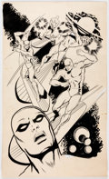 Original Comic Art:Illustrations, Ric Estrada and Gerald Forton Silver Surfer Unused Poster Illustration Original Art (c. 1970s)....