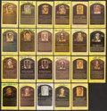 Autographs:Post Cards, Signed Baseball Hall of Fame Plaque Postcard Lot of 23....