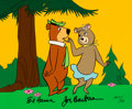 "Animation Art:Limited Edition Cel, ""Cindy Flirting With Yogi"" Yogi Bear Signed Limited Edition Cel AP #11/20 (Hanna-Barbera, 1989)...."