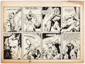 Original Comic Art:Panel Pages, Charles Sultan Yankee Doodle Jones Fragmentary Page, Lower Section Original Art (1940s)....