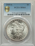 Morgan Dollars, 1889-S $1 MS64 PCGS. PCGS Population: (2393/843 and 100/44+). NGC Census: (1362/270 and 18/2+). CDN: $450 Whsle. Bid for pr...
