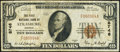 National Bank Notes:Virginia, Strasburg, VA - $10 1929 Ty. 1 The First NB Ch. # 8746 Very Fine.. ...