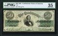 Confederate Notes:1861 Issues, T16 $50 1861 PF-8 Cr. 88 PMG Choice Very Fine 35.. ...