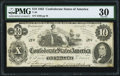 Confederate Notes:1862 Issues, T46 $10 1862 PF-1 Cr. 344 PMG Very Fine 30.. ...