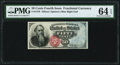 Fractional Currency:Fourth Issue, Fr. 1376 50¢ Fourth Issue Stanton PMG Choice Uncirculated 64 EPQ.. ...