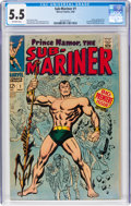Silver Age (1956-1969):Superhero, The Sub-Mariner #1 (Marvel, 1968) CGC FN- 5.5 Off-white pages....