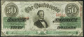 Confederate Notes:1863 Issues, T57 $50 1863 PF-8 Cr. 414 Extremely Fine.. ...