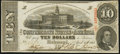 Confederate Notes:1863 Issues, T59 $10 1863 PF-11 Cr. 429 Choice About Uncirculated.. ...