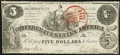 Confederate Notes:1861 Issues, T36 $5 1861 PF-4 Cr. 278 Very Fine-Extremely Fine.. ...